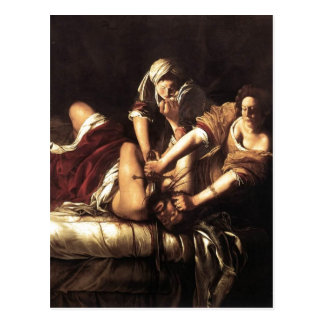 Description Judith Beheading Holofernes , Oil on c Postcard