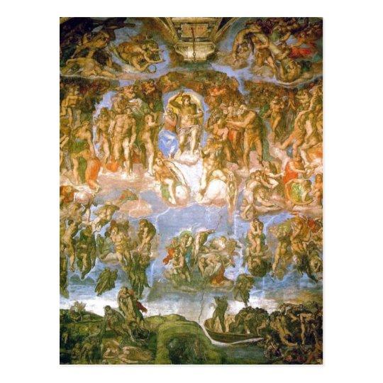 Description Last Judgement - painted by Michelange Postcard