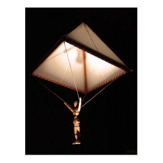 Description Leonardo da Vinci sketched a parachute Postcard