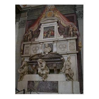 Description Michelangelo's tomb in Basilica di San Postcards