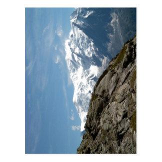 Description Mont Blanc and Dome du Gouter photo ta Postcard