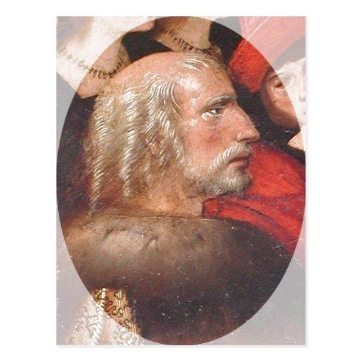 Description Painting of Christopher Columbus. The  Postcards