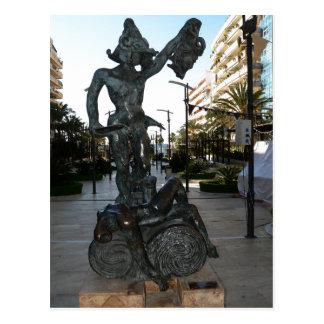 Description : Perseo Subject : Sculpture City Coun Postcard