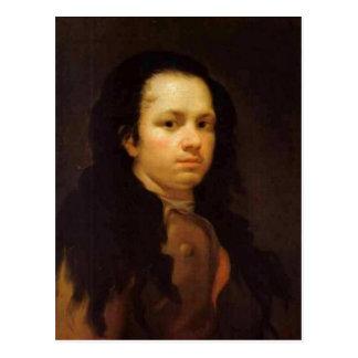 Description Self-portrait , Oil on panel, 58 x 44  Postcard