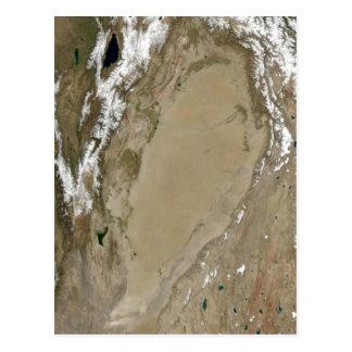 Description Tarim Basin, Asia NASA Landsat Date Au Post Card