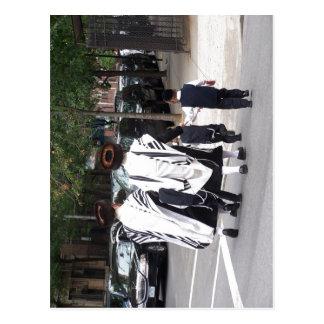 Description Ultra-orthodox Jews in Brooklyn jueus  Postcard