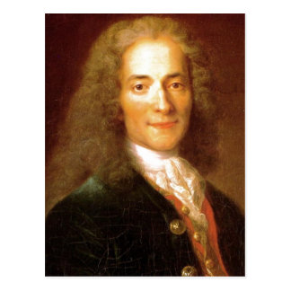 Description Voltaire en 1718 . Portrait of Voltair Postcard