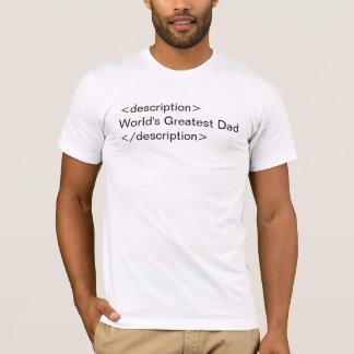 Description: World's Greatest Dad (light) T-Shirt