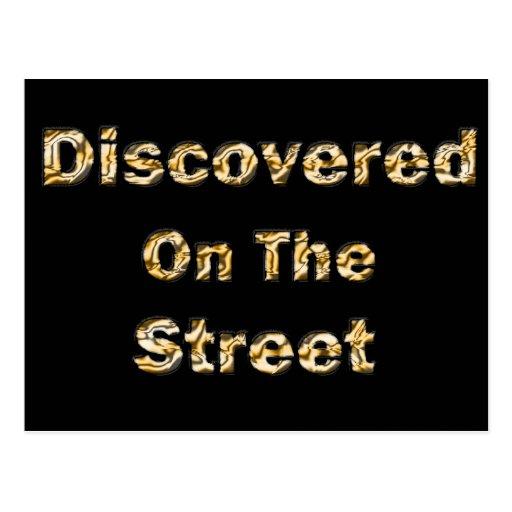 Descubierto en la calle tarjetas postales