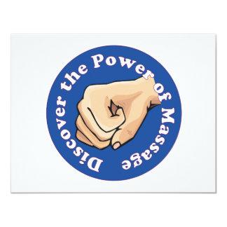 Descubra el poder del masaje invitación 10,8 x 13,9 cm