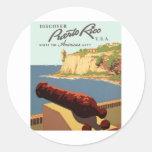 Descubra el poster de Puerto Rico Pegatinas Redondas
