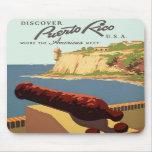 Descubra el poster de Puerto Rico Alfombrilla De Ratón