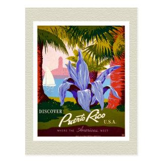 Descubra el recuerdo de Puerto Rico Tarjeta Postal