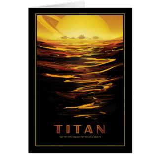 Descubra el titán - luna cubierta lago de Saturn Tarjeta De Felicitación