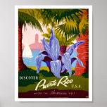 Descubra el vintage de Puerto Rico Poster