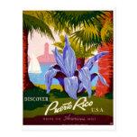 Descubra el vintage de Puerto Rico Tarjeta Postal