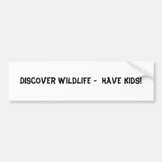 ¡Descubra la fauna - tenga niños! Pegatina Para Auto