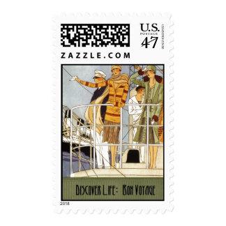 Descubra la vida:  Buen viaje Sello Postal