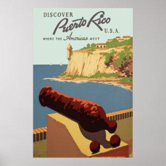 Descubra Puerto Rico Póster
