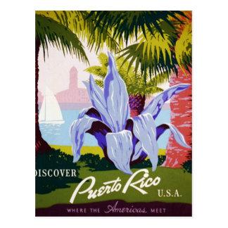 Descubra Puerto Rico Tarjeta Postal