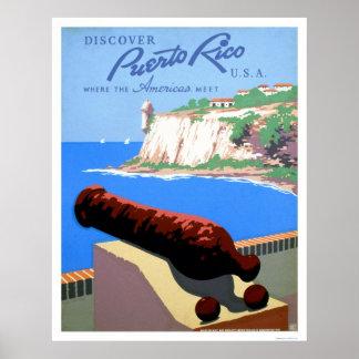 Descubra Puerto Rico WPA 1940 Poster
