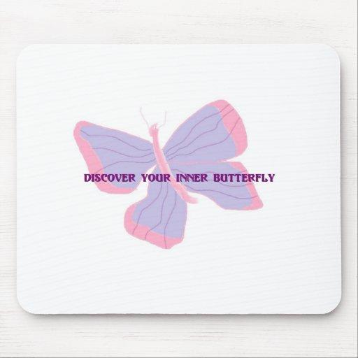 Descubra su mariposa interna tapete de raton