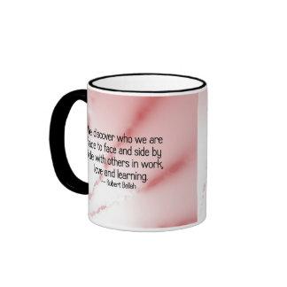 Descúbrase con amor y el aprendizaje tazas de café