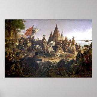 Descubrimiento 1847 del poster del arte de Mississ