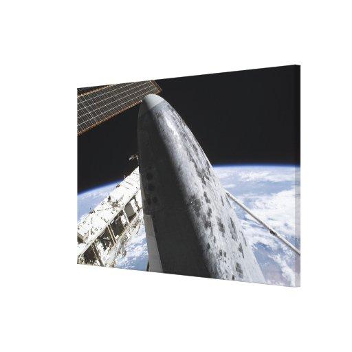Descubrimiento 5 del transbordador espacial impresion de lienzo