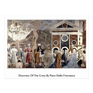 Descubrimiento de la cruz de Piero della Francesca Postales