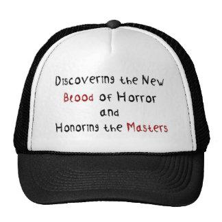 Descubrimiento de la nueva sangre del horror gorros bordados