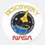 Descubrimiento del STS 120 Pegatina Redonda