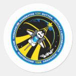 Descubrimiento del STS 131 Pegatina Redonda