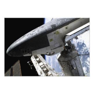 Descubrimiento del transbordador espacial atracado impresion fotografica