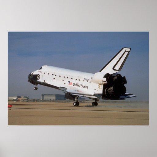 Descubrimiento del transbordador espacial, desiert póster
