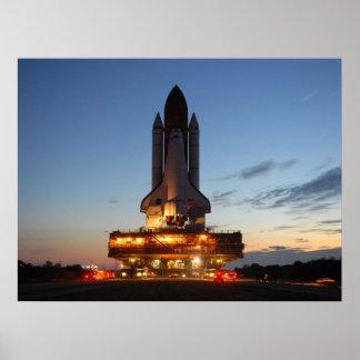 Descubrimiento del transbordador espacial poster