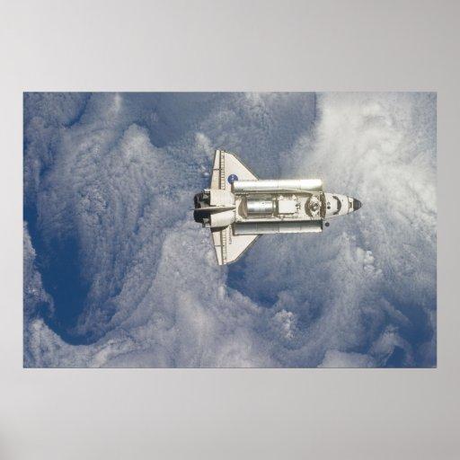 Descubrimiento del transbordador espacial póster