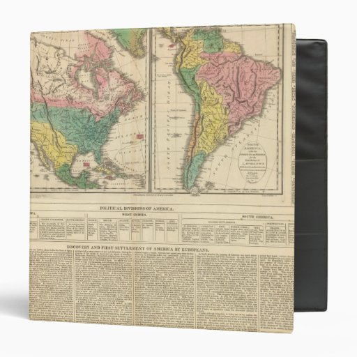 """Descubrimiento europeo del mapa del atlas de Améri Carpeta 1 1/2"""""""