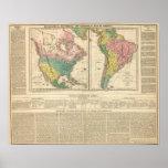Descubrimiento europeo del mapa del atlas de Améri Póster