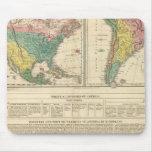 Descubrimiento europeo del mapa del atlas de Améri Tapete De Ratones