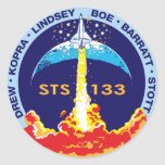 Descubrimiento STS-133 Pegatinas Redondas