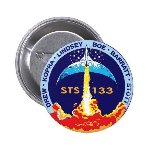 Descubrimiento STS-133 Pin Redondo 5 Cm