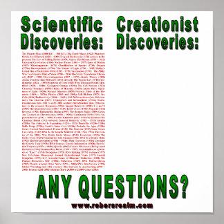 Descubrimientos científicos póster