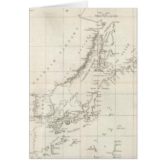Descubrimientos hechos en 1787 en los mares de Chi Tarjeta De Felicitación