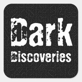 Descubrimientos oscuros pegatina cuadrada