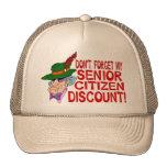 Descuento del jubilado gorras