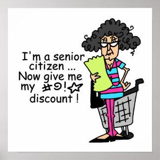 Descuento del jubilado impresiones