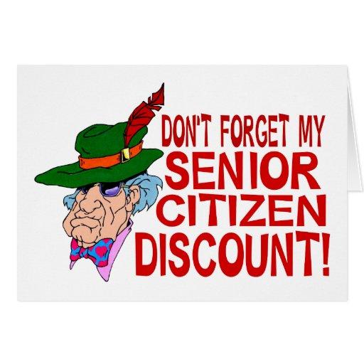 Descuento del jubilado tarjeta de felicitación