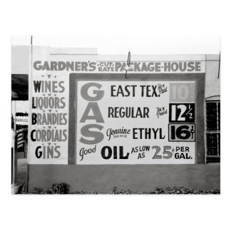 Descuento Liquor y Gasoline, 1939 Tarjeta Postal
