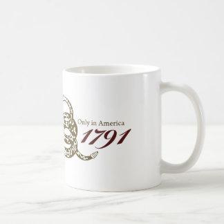 Desde 1791 Declaración de Derechos Taza Básica Blanca